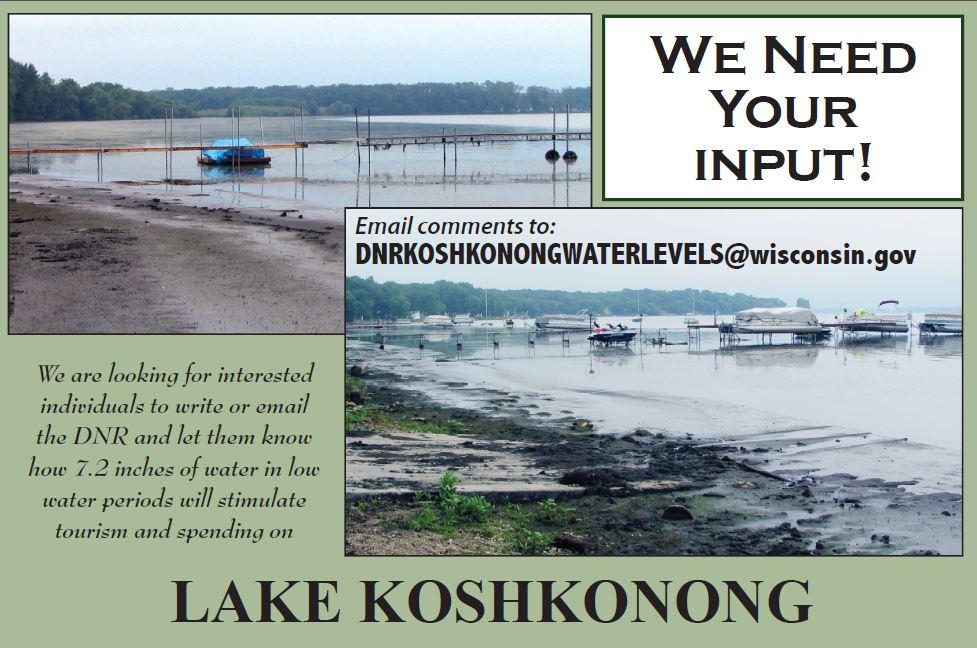 Statement regarding dnr request for public comment rock for Lake koshkonong fishing report