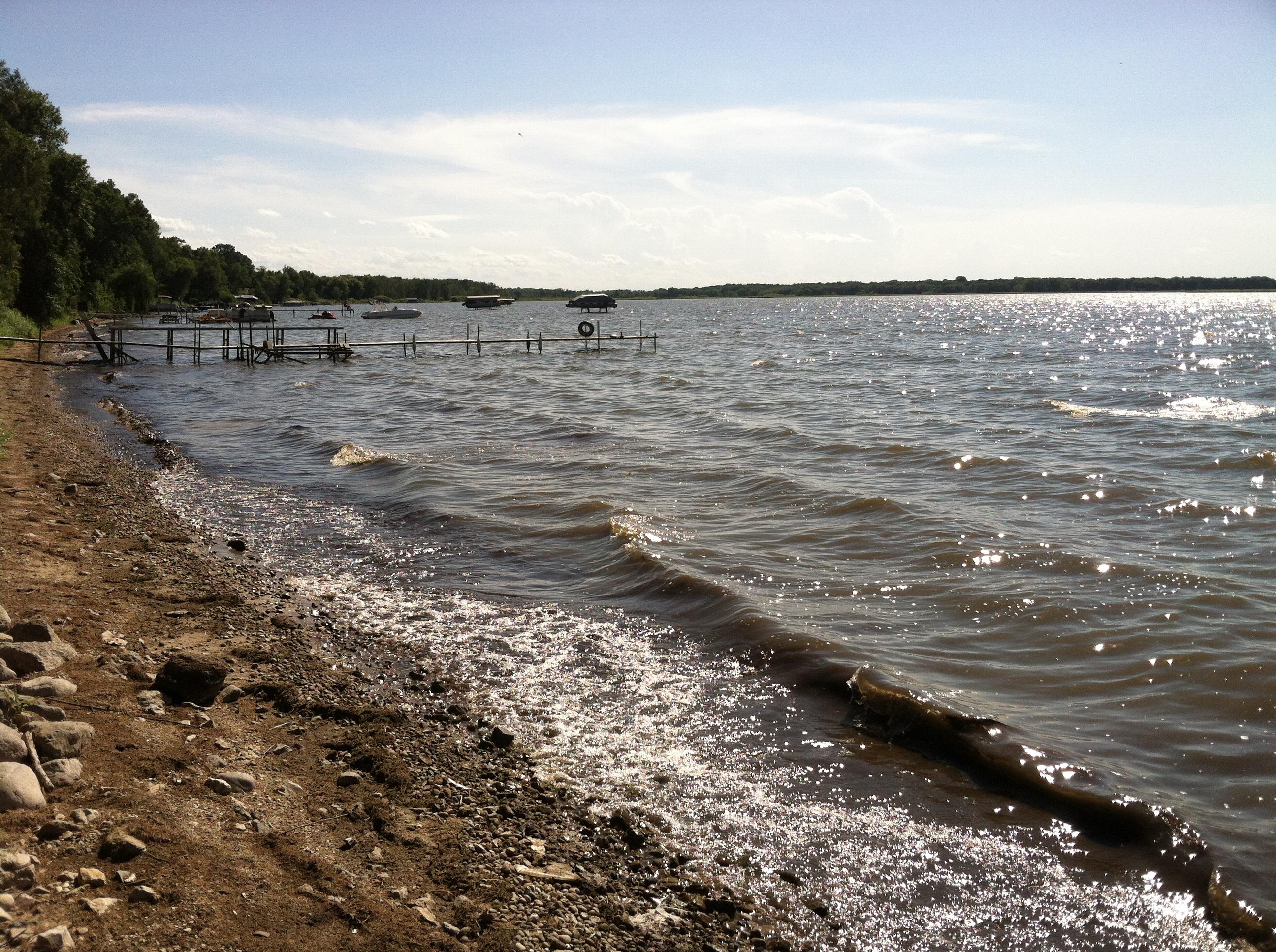 Lake koshkonong shoreline images as of august 1 rock for Lake koshkonong fishing report